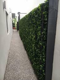 Side Walk Way Fence With Fake Hedge Tiles Designer Plants