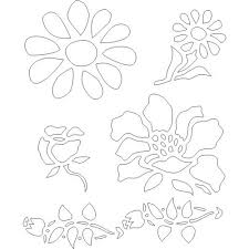 free printable flower wall stencils