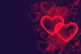 hearts bubble romantic love background