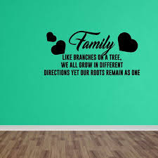 wall decal quote family tree roots branches home vinyl wall art