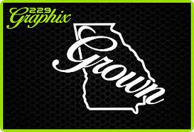 Georgia Grown Vinyl Decal Car Truck Boat Window Sticker State Pride Peaches 4 95 Picclick