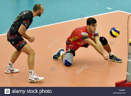 Andrea Giovi (left) and Joseph Aaron Russell of Sir Safety Perugia in Stock  Photo - Alamy