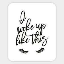 Home Decor Items I Woke Up Like This Beauty Lash Vinyl Decal Macbook Laptop Window Quote Sticker Medicareresources Org