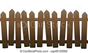 Old Unsteady Crooked Wooden Fence Old Unsteady Crooked Fence With Wooden Texture Seamless Extendable Isolated Vector