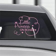 Little Princess On Board Car Sticker Decal Car Window Decal Etsy Baby Decals Car Window Car