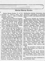 MARION MURRAY KORDUS - Newspapers.com