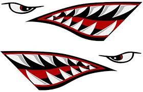 Amazon Com Alemon Shark Teeth Mouth Reflective Decals Sticker Fishing Boat Canoe Car Truck Kayak Graphics Accessories Reflective Decals Kayak Decals Kayaking
