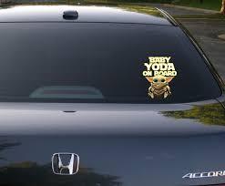 Baby Yoda On Board Car Sticker Stickersmag