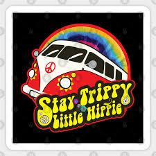 Trippy Little Hippie Van 60 S 70 S Retro Tee Trippy Little Hippie Sticker Teepublic