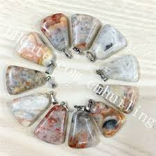 small mexico crazy lace agate pendant