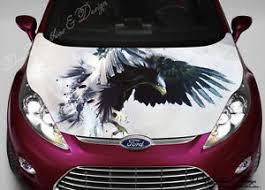 Eagle Full Color Graphics Adhesive Vinyl Sticker Fit Any Car Hood 187 Ebay