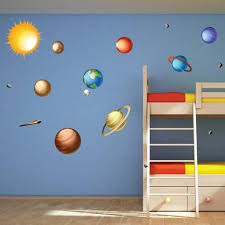 Space Jam Solar System Wall Decal Nursery Wall Decals Kids Room