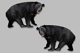Amazon Com Black Bear Full Color Vinyl Decal Set Right And Left Facing 4 7 X 7 Truck Window Sticker Vehicle Glass Automotive