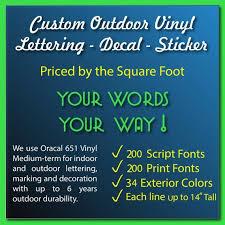 Custom Vinyl Lettering Decal Sticker Window Decal Etsy Custom Vinyl Lettering Vinyl Lettering Decals Stickers