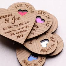 rustic save the date magnet wooden save