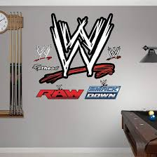 Wwe Logo Wwe Wrestling Wall Decals Wwe Logo Custom Wall Decals