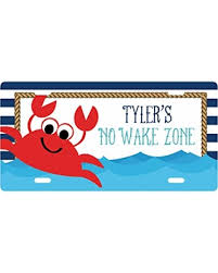 Find Big Savings On Personalized Boys Room Sign Nautical Decor Crab Sign Boy Decor Customized Sign Kid S Name Sign Kids Door Sign License Plate Sign