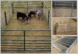 Portable Goat Fence Panels Galvanized Livestock Fencing Simple Structure