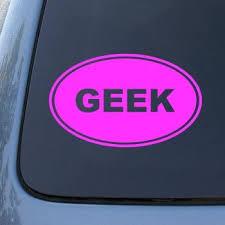 Amazon Com Geek Vinyl Car Decal Sticker 1515 Vinyl Color Pink Automotive