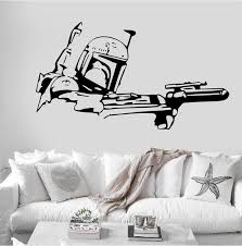 Boba Fett Star Wars Movie Wall Decal Sticker Mural Bounty Etsy