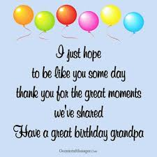 birthday wishes and messages for grandpa occasions messages