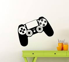 Amazon Com Ps4 Controller Wall Decal Gamepad Video Game Playroom Gaming Gamer Gift Vinyl Sticker Home Nursery Kids Baby Room Art Stencil Decor Mural Removable Poster 123ct Home Improvement