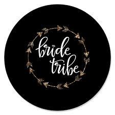 Bride Tribe Bridal Shower Bachelorette Party Circle Sticker Labels 24 Count Walmart Com Walmart Com