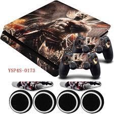 Vinyl Game God Of War Ps4 Slim Protector Sticker For Playstation 4 Slim Console For Ps4 Controller Skin Decal Led Light Bar Skin Geek