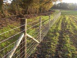 Post And Wire Fence Google Search Livestock Fence Field Fence Backyard Fences