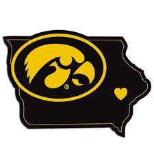 Iowa Hawkeyes Home State Vinyl Auto Decal Ncaa Iowa Shape Fanaticsworldwide