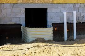 window well for basement construction