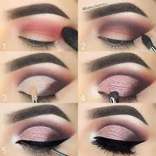 makeup pink sparkly cut crease tutorial 2784099 weddbook