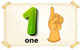 Illustration Of A Flashcard Number One Royalty Free Cliparts ...