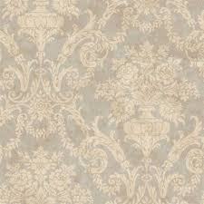 silver larkspur damask wallpaper