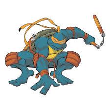 Teenage Mutant Ninja Turtles Orange Die Cut Vinyl Decal