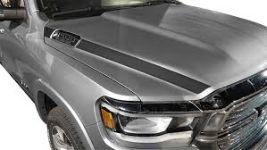 Dodge Ram 1500 Hood Side Stripes Vinyl Decal Graphic Striping Kit Fits Years 2019 2020 2021
