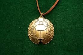 egyptian scarab brass scarab pendant