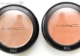how can you tell if mac makeup is fake