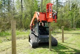 Pdx 750 Post Driver Attachment Skid Steer Excavator Eterra