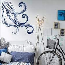 Octopus Wall Decal Tentacle Vinyl Kraken Tentacles Decal Etsy Animal Wall Decals Wall Decals Textured Walls