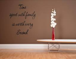 Amazon Com Time Spent With Family Is Worth Every Second 0822 Vinyl Wall Decals Quotes Home Kitchen
