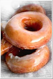 homemade glazed yeast doughnuts red