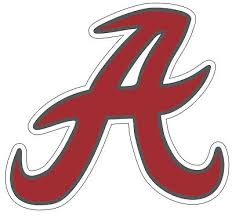 University Of Alabama Crimson Tide Retro A Ncaa Color Die Cut Vinyl Decal 2 28