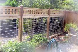 Residential Wood And Wire Fencing Garden Pinterest Wood Fence Wire Fence Fence Design