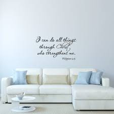 Vwaq I Can Do All Things Through Christ Who Strengthens Me Philippians 4 13 Wall Decal Bible Scripture Christian Wall Art Quote Lettering Mural Walmart Com Walmart Com