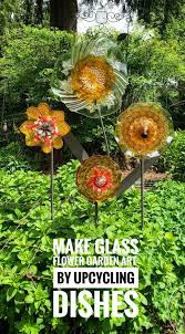 glass flowers using recycled glass