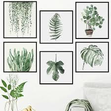 Pot Plants Framed Wall Stickers Botanical Vinyl Decals Home Restaurant Decor Diy Ebay