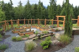 Contemporary Garden With Raised Beds And Simple Wood Fence Hgtv