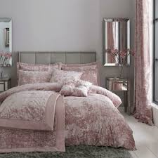 catherine lansfield crushed velvet pink