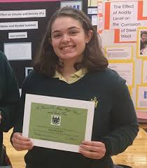 STVM Sophomore Abby May Selected to Attend Intel International Science Fair  in Arizona   St. Vincent-St. Mary High School